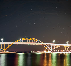 stars over the Hoan Bridge, Milwaukee