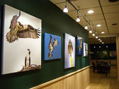 Bill Brakken's Kristen Westlake Gallery at the Rookery, in Cable, WI. Bill's fine art gallery along with his exquisite palette for delectible cuisine make his restaurant and lodge a unique destination. Bill purchases all of his art pieces from me and sells them from his wall to interested clientele.