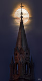 Holy Hill and full moon